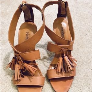 Kate Spade Saturday Tan Tassel Heels - 7.5